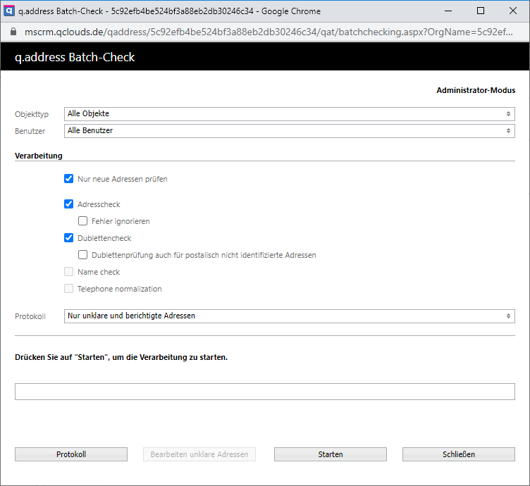 qaddress-Batch-Verarbeitung-Microsoft-Dynamics-CRM